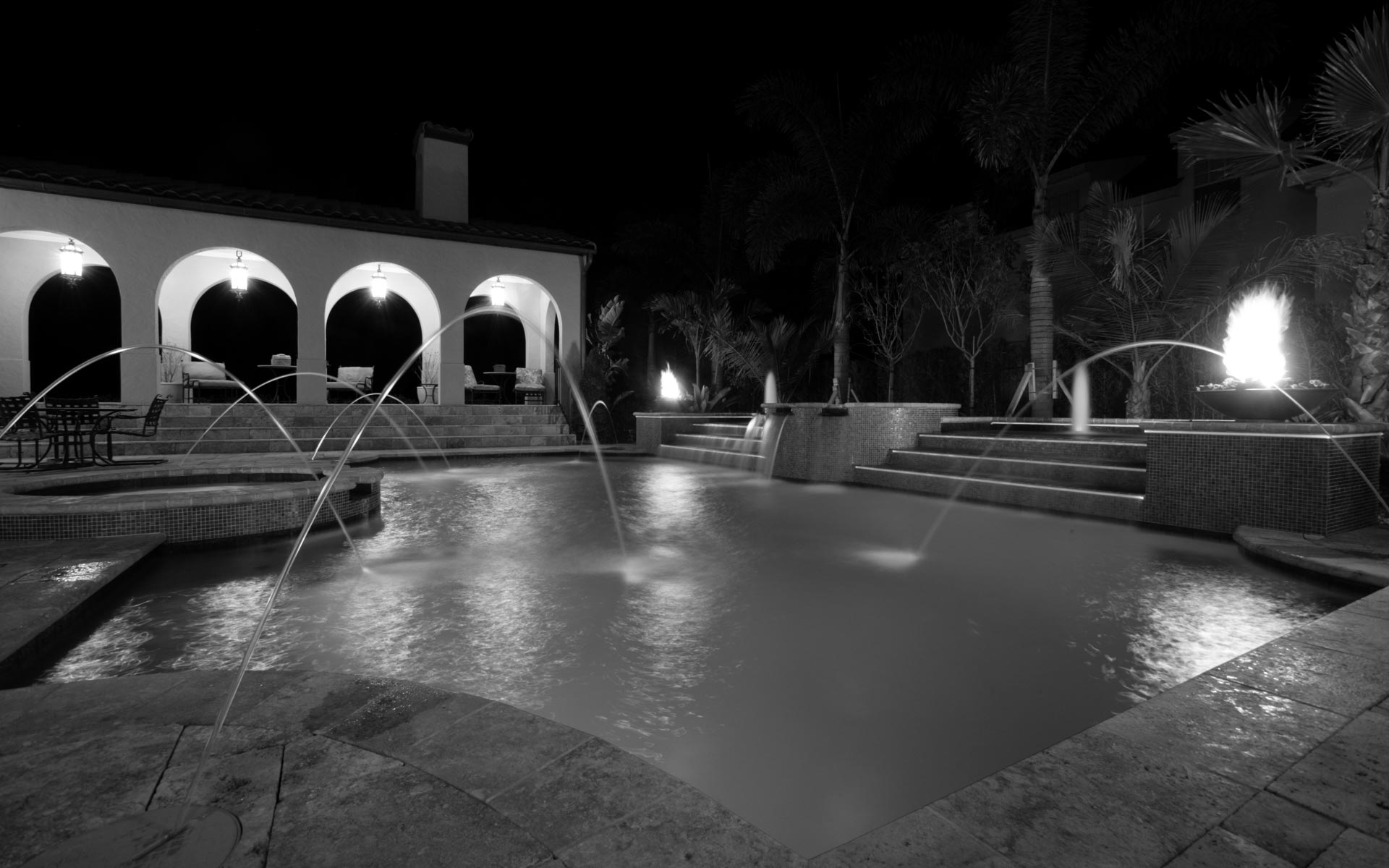 houzz design, orlando custom pool contractor, freeform and linear pool design styles